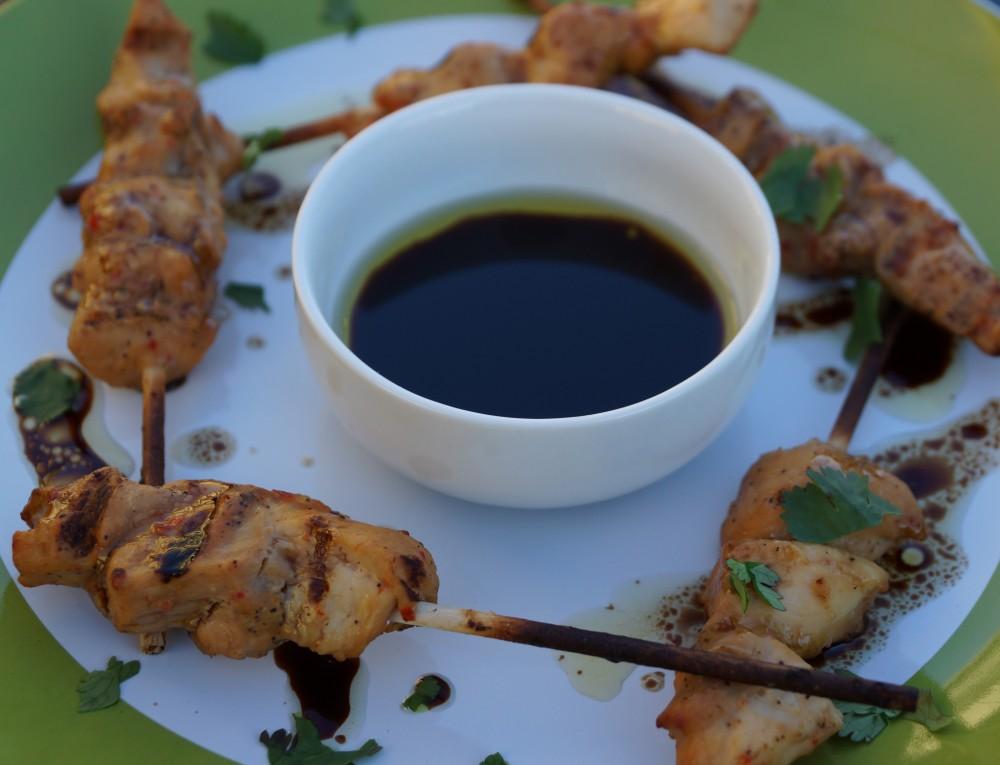 EVOO Balsamic Chicken Satay