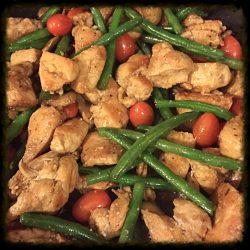 Balsamic Chicken With Green Beans