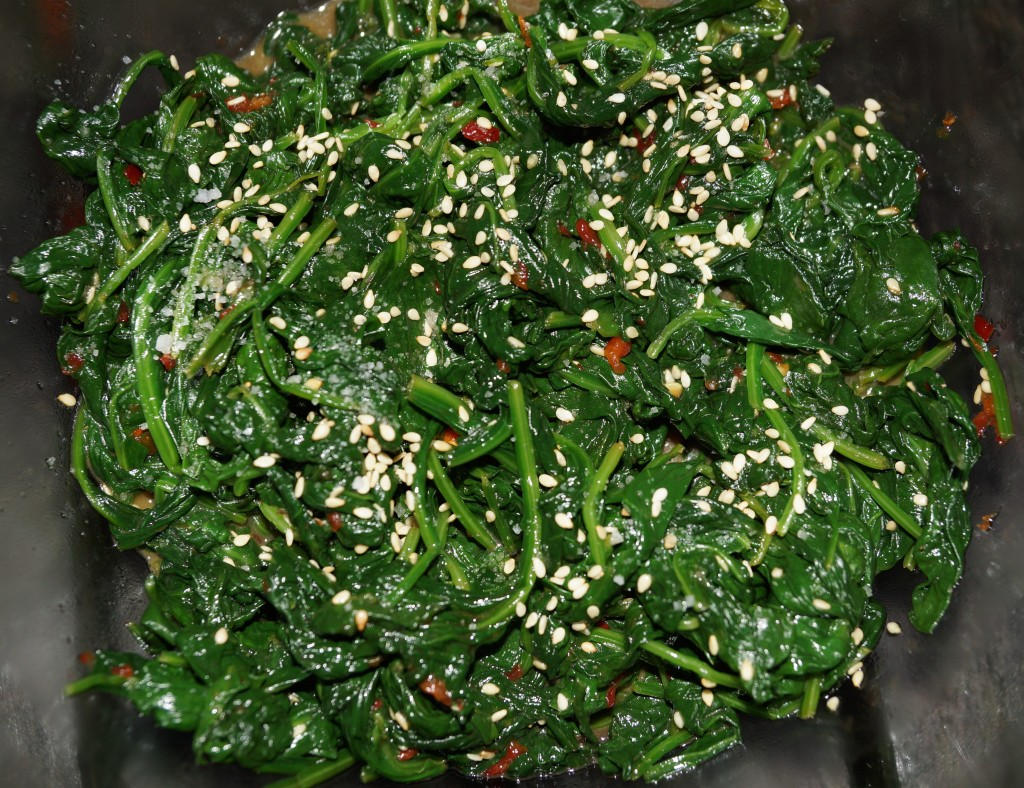 Gomae-Asian Spinach Salad